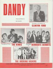 Dandy - The Kinks and others - 1966 Sheet Music