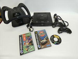 Sega Saturn Console & 3 Games Bundle - Very Good Condition. Sega AgesVol1, Rally