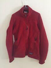 Vtg Patagonia R Regulator Full Zip maroon  Polartec Fleece Women Jacket XS