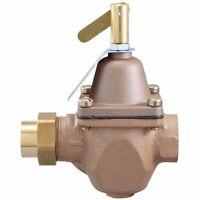 """Watts 0950001 High Capacity Feed Water Pressure Regulator, 1/2"""", Bronze Body"""