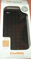 Speck PixelSkin case for Apple iPhone 4/4s, one part all Black slip on, NEW