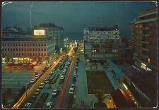 AD3725 Pescara - Città - Piazza della Rinascita di notte