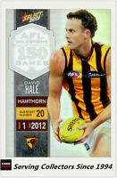 2013 Select AFL Champions Milestone Holofoil Card MG36 David Hale (Hawthorn)