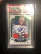 2015-16 UD Artifacts Connor McDavid Emerald Jersey/Patch Autograph RC /49