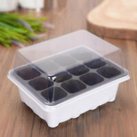 3pcs Gardening Supplies Plant Seedling Starter 12 Nursery Pots Trays Box W/ Dome