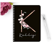 Personalised Notebook Notepad A5 Wedding Planner Party Blush Pink Gold Birthday