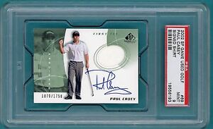 2002 Upper Deck SP Game Used Golf Paul Casey Auto Issue #69 - PSA 9!