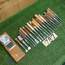 Japanese Vintage Chisel Nomi 20 pcs Plane 1 pcs carpentry wooden Daiku tools