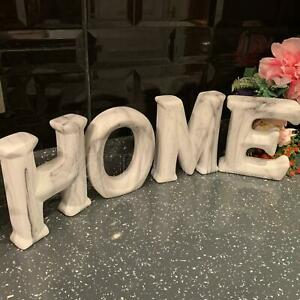 New Marble Effect Ceramic Home Sign Home Decor Ornament Stand/Shelf Sitter Gift