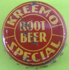 KREEMO ROOT BEER SPECIAL Cork-lined Soda CROWN, Bottle CAP, St. Louis, MISSOURI