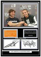 (#48)  GUY MARTIN & VALENTINO ROSSI  SIGNED  A4 PHOTOGRAPH (REPRINT) ##