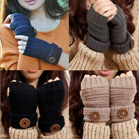 Fashion Women Autumn Winter Wrist Warmer Knitted Fingerless Gloves Mitten Gifts
