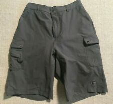 Novara Men's Gray Padded Cycling Mountain Bike Cargo Shorts Med. Heavy Sz M #A7