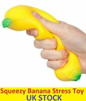 Squeezy Banana Stress Relief Toy Games Jokes Gags Christmas Gift Stocking Filler