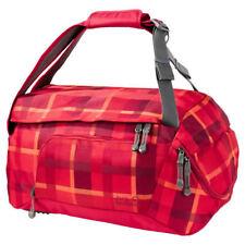 Jack Wolfskin Ramson Duffle Bag Sporttasche Indian Red Woven Check