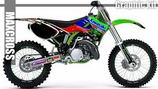 KAWASAKI KX125 KX250 1999 2000 2001 2002 MAXCROSS GRAPHICS KIT FULL MSP-STYLE-3