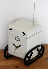 NEW 33cm Robot Mantel Clock - Tank Handmade Upcycled Recycled Metal Desk Gift