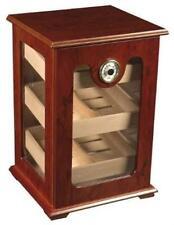 150 Cigars Storage Cabinet Countertop Tower Display Humidor Hygrometer Burl Wood