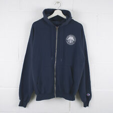 Vintage CHAMPION Zip Up Navy Blue Hoodie Jacket Size Mens Medium /R42023