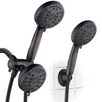 AquaSpa High Pressure Combo Dual Rain & Handheld Shower Head – Oil Rubbed Bronze