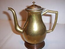 VINTAGE  BRASS COFFEE POT  7 inches high