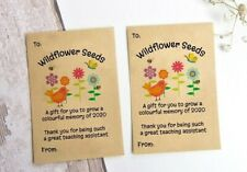 Teaching Assistant TA End of Term Gift Seed Packets Wildflower Seeds