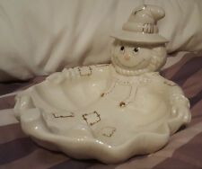 LENOX Scarecrow Candy Dish / Bowl / Dish  Halloween Thanksgiving Collectable