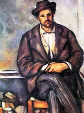 Paul Cezanne assis agriculteur OLD MASTER ART PAINTING imprimé Poster 2110oma