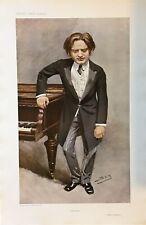 Original Vanity Fair Print 1908 ' Impromptu' Mark Hambourg - Music