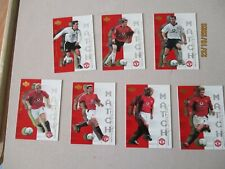 Upper Deck Manchester United Match Winners 2003 Full Chase Set of 7 Cards