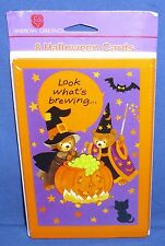 American Greetings Halloween Party Invitations Bears Witches Brew Pkg of 8 NIP