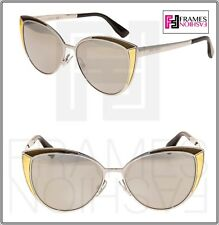 8d06e048909 Jimmy Choo Cat Eye Metal Frame Mirrored Sunglasses for Women