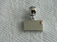 Clogau Sterling Silver & 9ct Welsh Gold Postcard Bead Charm