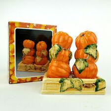 Pumpkin Patch Salt & Pepper Shakers Brinns Fall Thanksgiving Vintage 1995