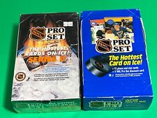 🔥 1990 PRO SET HOCKEY Wax Box LOT X2 - 36 Packs Per 🔥 WAYNE GRETZKY🔥 FUN RIP