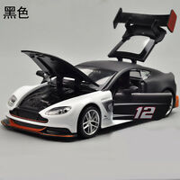 Toys Model Cars Aston Martin Vantage GT3 1:32 Sound & Light Alloy Diecast Black