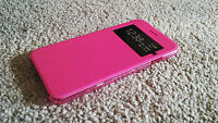 iPhone 7 Case Hot Pink Wallet View Window Flip Case Cover For Apple Iphone 4.7