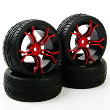 Set  4 X Tyre Rims For HSP RC 1:10 Flat Racing On Road Car PP0150+MPNKR 12mm Hex