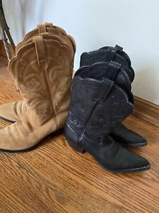 VTG WOMENS ARIAT COWBOY BOOTS SIZE 7 B 2PAIRS