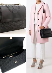 TORY BURCH Large Fleming Convertible Shoulder Bag  Black Hot