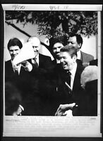 Vtg AP Wire Photo President Ronald Reagan Honors World Series Champions 1987