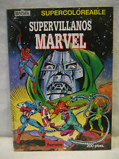 1980s Marvel Forum Comics SUPERVILLAINS foreign coloring book Spain DOCTOR DOOM