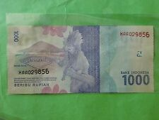 Indonesia 1000 Rupiah 1st Replacement 2016 (UNC) XAA 029856