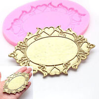 3D Mirror Silicone Fondant Cake Mold Chocolate Baking Mould Decorating DIY Tools