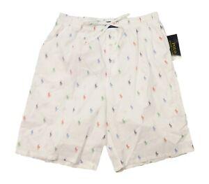 Polo Ralph Lauren Men's White All Over Pony Print Cotton Sleep Shorts