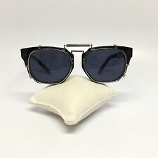Rare Vintage Jean Paul Gaultier Marbled Blue Metal Spring Sunglasses 56-8005