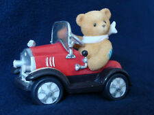 Cherished Teddies - Roger - Teddie Riding Car Figurine - 477516 - 1999