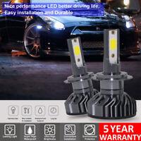 2x H1 H4 H7 Car LED Xenon Headlight Bulbs DOB 1500W 225000LM Headlamp 6500K