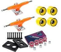 "Gullwing Pro III 9"" 155mm Orange Trucks + Sector 9 58mm 78a Yellow Wheel Combo"