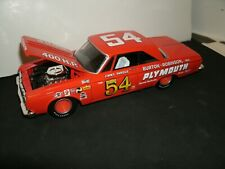 #54 JIMMY PARDUE 1964 RED FACTORY BACKED PLYMOUTH 1/24  RARE CUSTOM